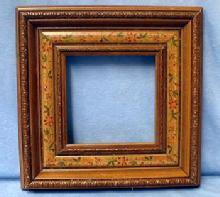 old vintage Folk Art Frame - Hand Painted Penn Dutch - Misc
