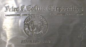 Wendell August PARTRIDGE Charger Plate - Stainless Clad Hammered Aluminum - metalware
