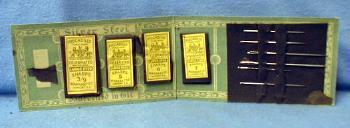 vintage Sewing Battleship IOWA Army Navy Needle Book - military textile advertising