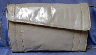 old Barbara Bolan Italian Leather Clutch Handbag  -