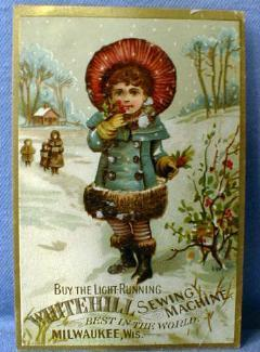 WHITEHILL Sewing Machine Trade Card - Vintage Advertising paper