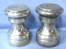 old  Sterling Silver Salt & Pepper Shakers - Vintage S&P Lined with Wood