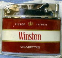old Winston Cigarette Lighter - NEW in Box - Vintage Tobaccianna Advertising