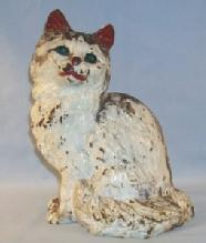 HUBLEY Cast Iron TABBY CAT Doorstop - Metalware