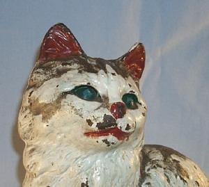 HUBLEY Cast Iron TABBY CAT Doorstop - Metalware