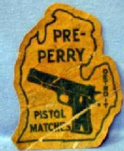 old Detroit 1950s Pistol Club Patch - Vintage Sporting