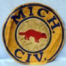 old Michigan 1950s CIV. Patch - Vintage Misc Collectible