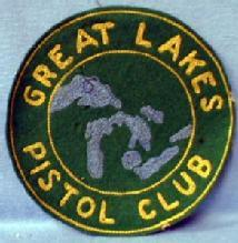 old Great Lakes Pistol Club Patch - 1950s Vintage Sporting
