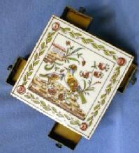 Cigarette box  Match Strike & Holder - Porcelain Trivet