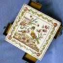 Tea Tile Trivet & Match Strike & Holder  Hand Made Fold Art