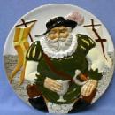 Limited edition  FALSTAFF Toby Plate - Vintage Davenport Pottery