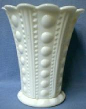 LARGE Milk Glass JEWEL ZIPPER and BUTTON Vase