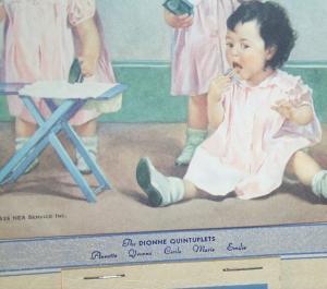 DIONNE QUINTUPLETS 1937 Advertising Calander
