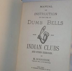 DUMB BELL and INDIAN CLUB Excercise Equipment with Instruction Book - Sporting