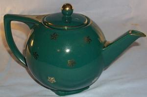 HALL Turquoise 6 Cup STAR Pottery Teapot