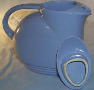 Light Blue Pottery Milk/Water Pitcher w/Lid