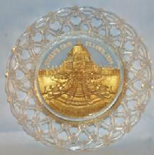 1904 ST. LOUIS WORLDS FAIR Decorative Glass Plate