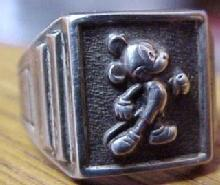 MICKEY MOUSE Ring Sterling - Collectibles