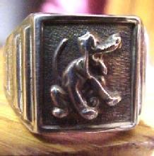 PLUTO Disney Ring Sterling - Collectibles