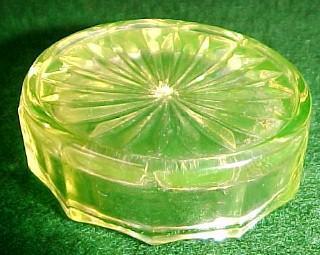 Vaseline Open Salt  - Glass