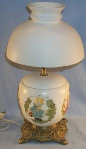 Children's White Pottery Electric Lamp