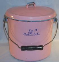 Pink GRANITEWARE Diaper Pail - Metalware