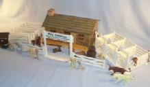 Marx ROY ROGERS RODEO RANCH Set in Original Box - Toys