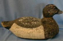 old Bluebill DUCK DECOY  Hand Carved Wood Decoy - Sporting