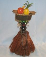 Black Americana NATIVE GIRL IN GRASS SKIRT Figurine - Ethnographic