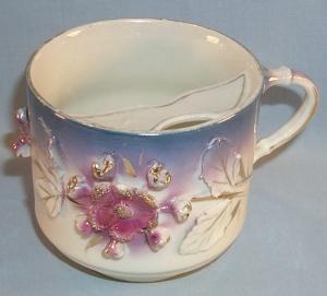 Lustreware Porcelain Mustache Cup