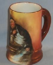 Beautiful LIMOGES Bartender Portrait Porcelain Mug