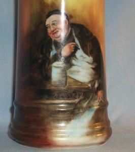 One Beautiful LIMOGES Bartender Portrait Porcelain Mug