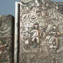 Silver Plated Ornate Cigarette / Match Holder - Tobacciana