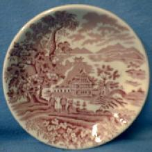 Staffordshire Butter Pat Dish or Coaster Vintage - SEAFORTH Pattern pottery