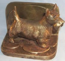 One Frankart SCOTTIE DOG Copper Finished Bookend - Metalware