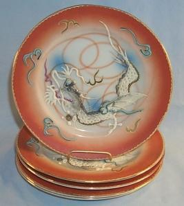 Five DRAGONWARE Porcelain Plates