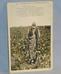 Black Americana OLD BLACK JOE Postcard - Ethnographic