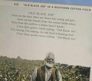 Black Americana OLD BLACK JOE Postcard - Ethnographic