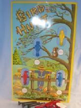 Wyandotte BIRD HUNT Toy Dart Game