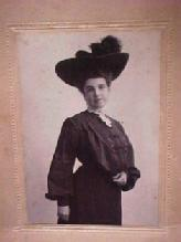 Photo Victorian Lady in Bustel and Hat  - Paper