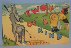 Black Americana POSTCARD - Two of a Kind - Ethnographic