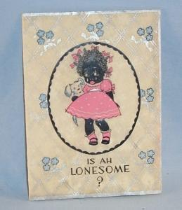 Black Americana IS AH LONESOME Greeting Card - Ethnographic