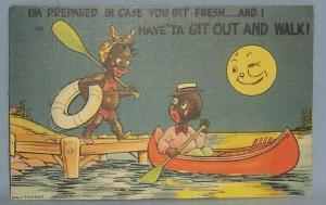 Black Americana POSTCARD - I'm Prepared in Case You Get Fresh - Ethnographic
