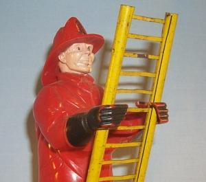 Marx CLIMBING FIREMAN Wind Up Tin Toy
