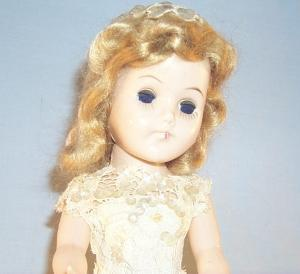 Hard Plastic BRIDE DOLL with Movable Arms and Legs - Toys