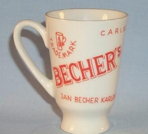 One BECHER'S LIQUEUR Advertising Porcelain Shot Cup