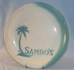 SAMBO'S Advertising Ironstone Dinner Plate
