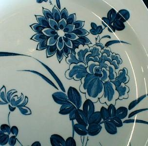 MEAKIN Flow Blue Dinnerware - 41 piece LIBERTY Cobalt Blue Pattern - Antique Ironstone Porcelain