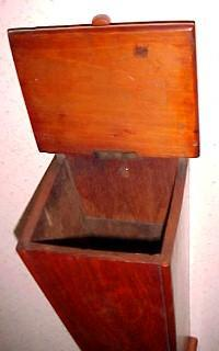Old Walnut Pipe Candle Box - Furniture