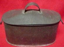 Tin Lunch Pail Child's - Metalware